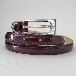 Leatherock Purple Skinny Leather Belt, Medium 34